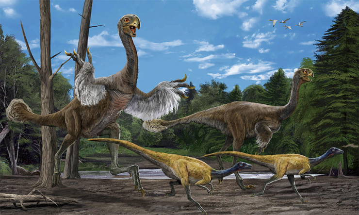Gigantoraptor imagined