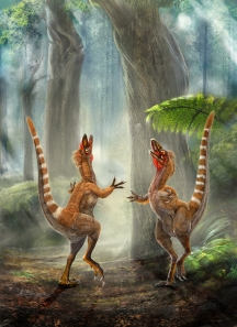 Sinosauropteryx imagined